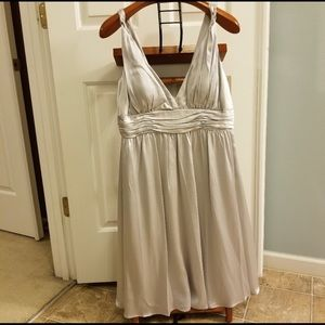Sophisticated cocktail dress platinum silver NWT